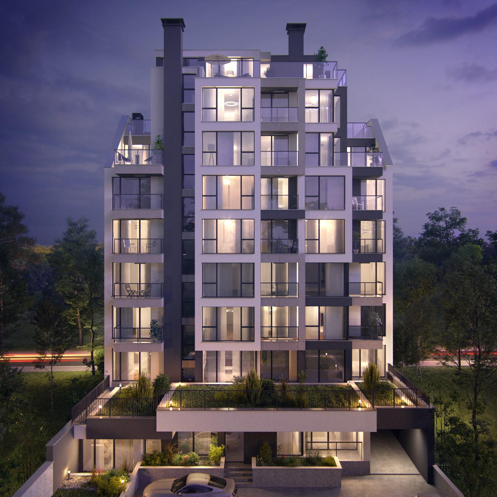 Тристаен апартамент, 116 кв. м. с три панорамни тераси, в нова луксозна жилищна сграда в идеален център, гр. София