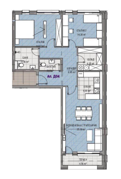 Луксозен тристаен апартамент, ново строителство (пуск 2022), Център, гр. Пловдив